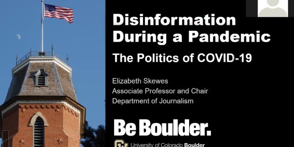 Disinformation during a pandemic screenshot