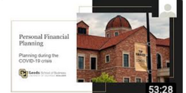 Personal Financial Planning During the COVID-19 Crisis Presentation