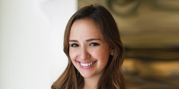 Zoe Yeros employee at Chartis and leeds honors alumnus
