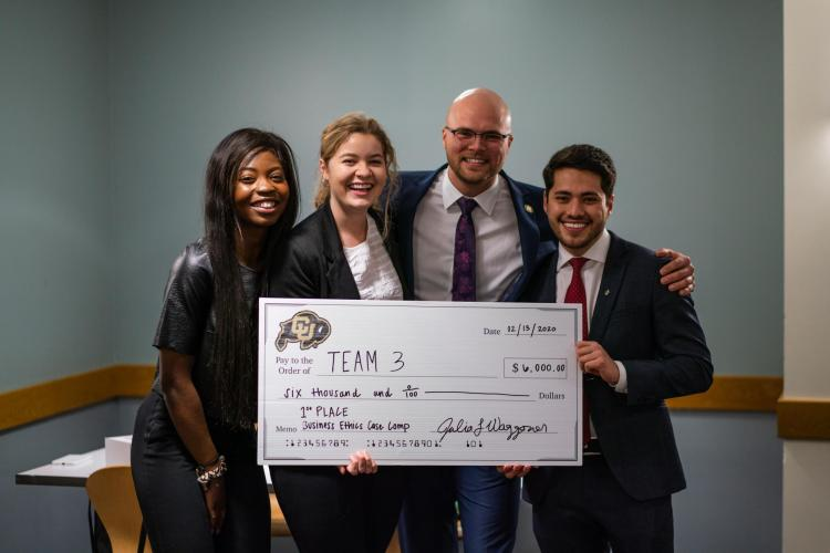 Winning team of the 2020 Business Ethics Case Competition