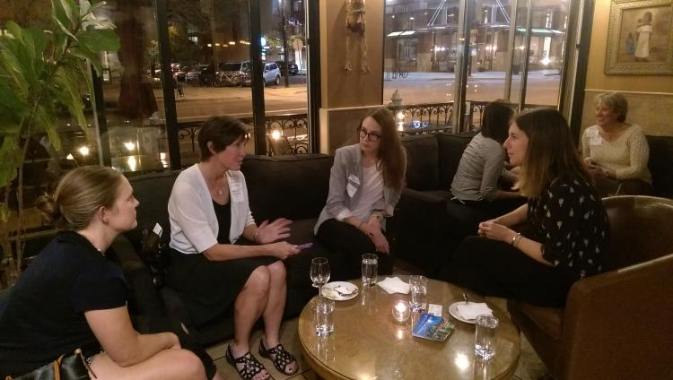 networking made fun and easy at an event for the Professional Mentor Program