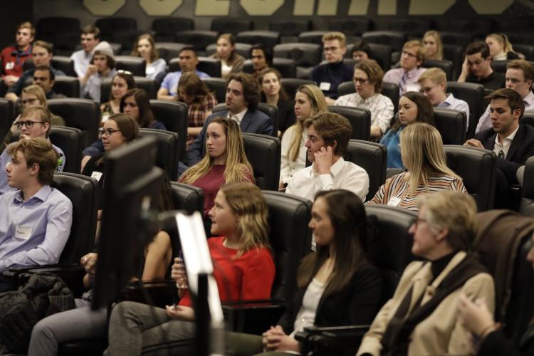 RJ Heckman Shares insights with Leeds students