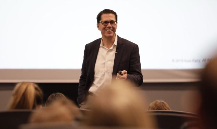 RJ Heckman Shares person insights during presentation