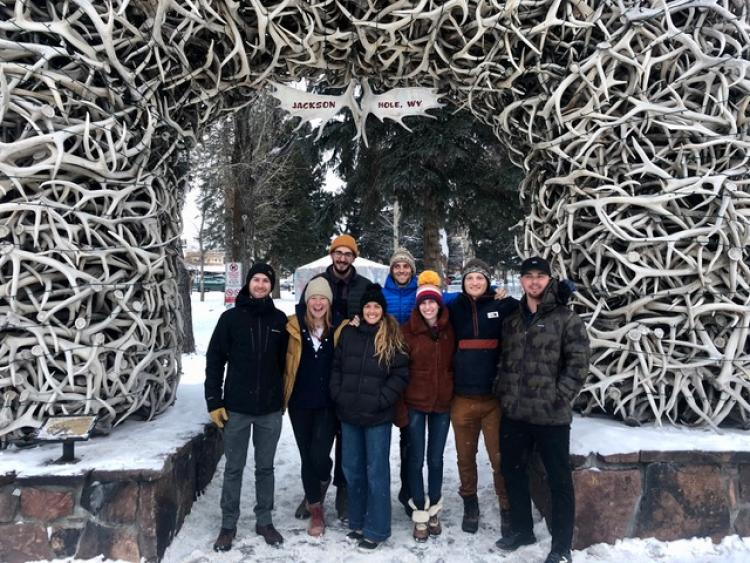 Leeds MBA students outdoors