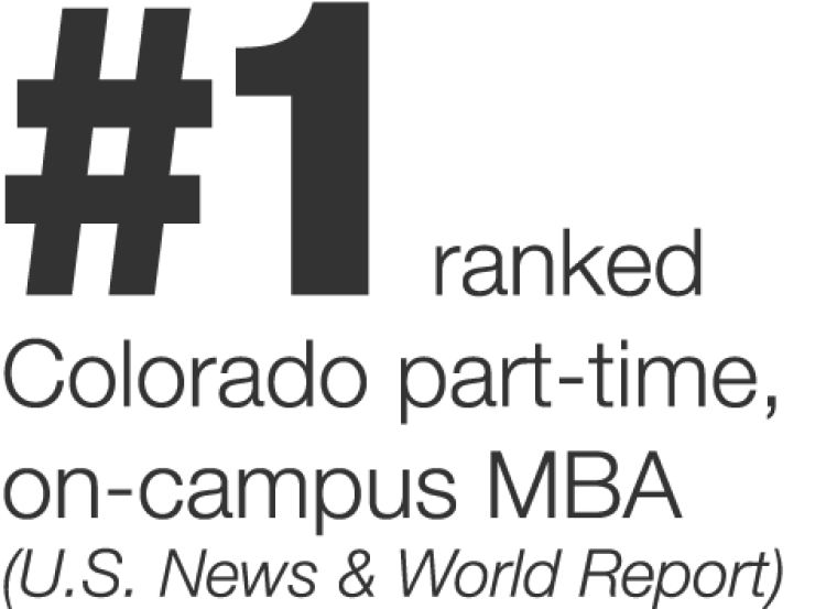 #1 Ranked Part Time MBA Denver