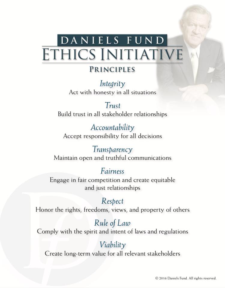 Principles of daniel's fund