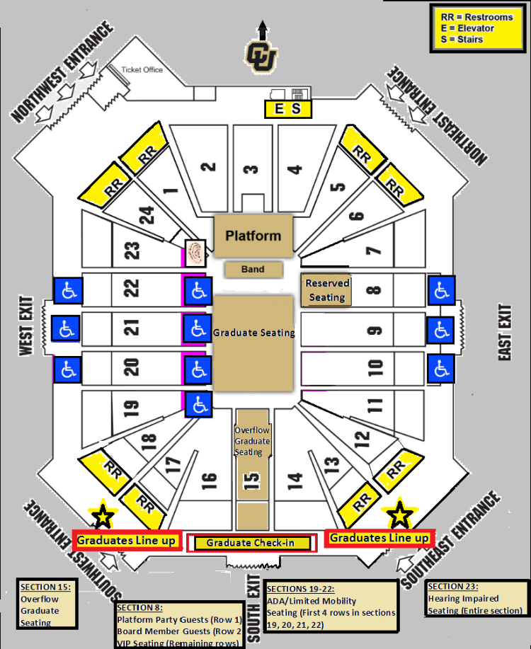 Graduation Commencement Parking Map and Coors Event Center Map ...
