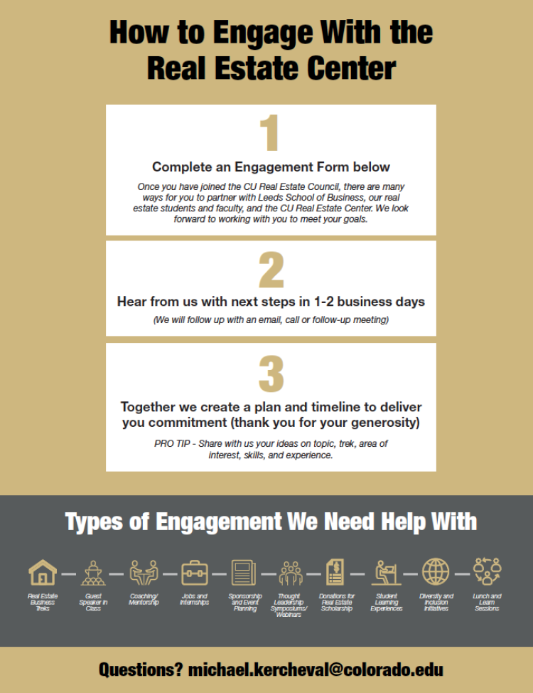 How to engage with CU Real Estate Center