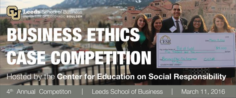 CESR Business Ethics Case Competition   University of