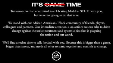 EA Games stands against racism