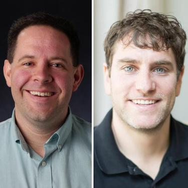 Headshots of Tony Cookson, left, and Phil Fernbach.