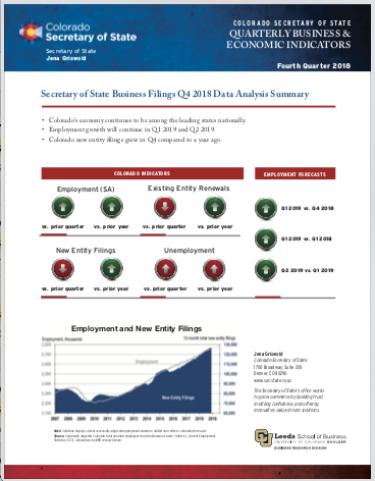 SOS Report Q4 2018