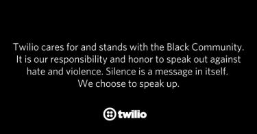 Twilio takes a stand against racism