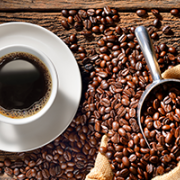 Coffee cup and beans image