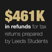 Leeds participates in the Volunteer Income Tax Assistance Program, providing free tax assistance to low income residents