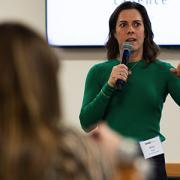 Erica Kuhl presenting at Salesforce
