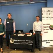 Brandon Schaefer and team at the Entrepreneur Resource Fair in Denver, Colorado