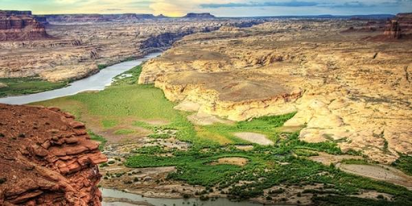 CO River arial view