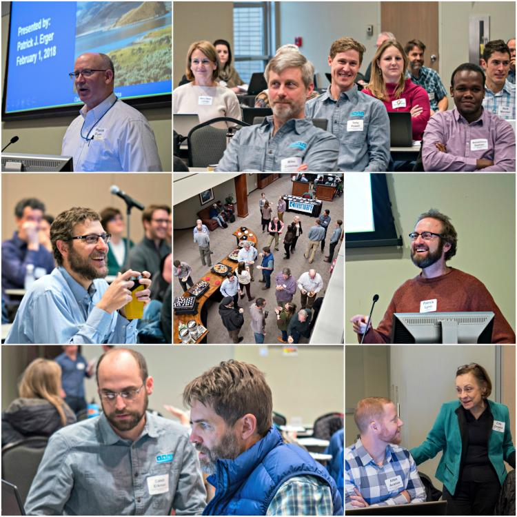 collage of attendees and presenters at the 2018 UGM