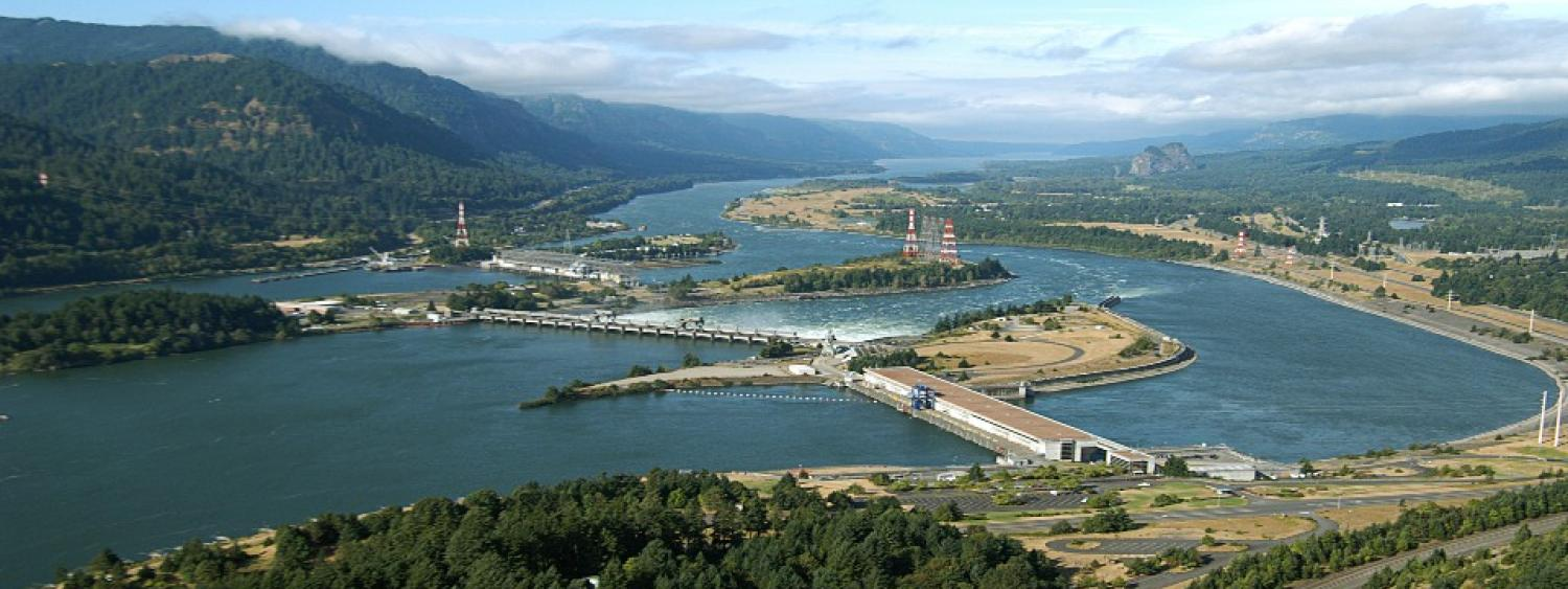 Bonniville Power Hydro Electric plant on the Columbia river