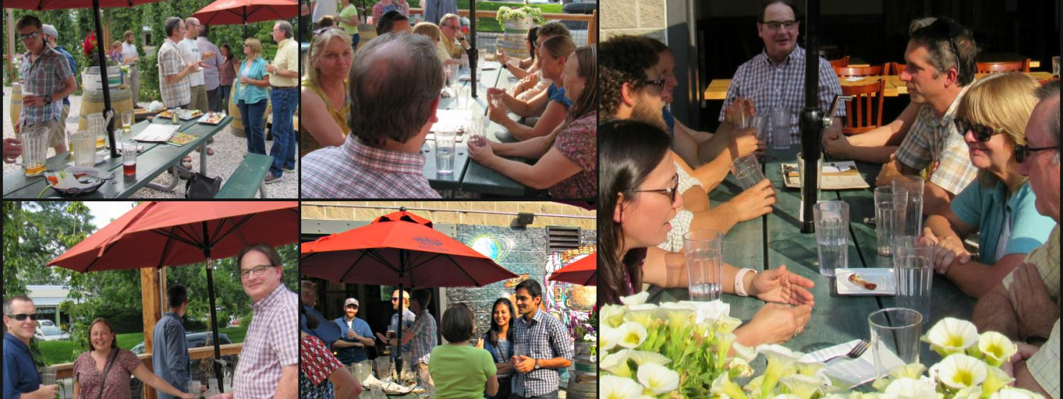 collage of attendees at staff appreication event at Boulder Beer