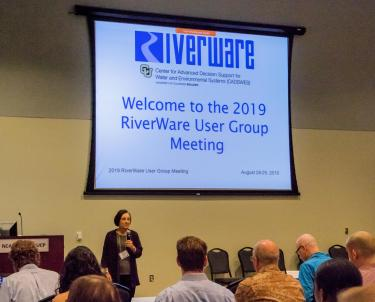 Dr Zagona speaking at the opening of the 2019 RiverWare User Group opening