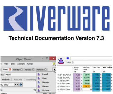 collage of RiverWare logo and screen shots of new improvements