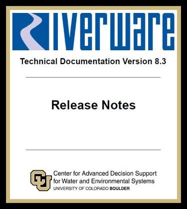 image of the cover of the Release 8.3 note pdf.