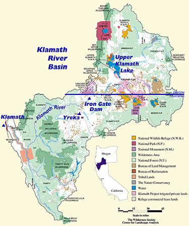 a map of the Klamath basin