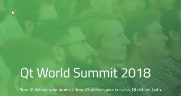 Qt world summit webpage screen shot