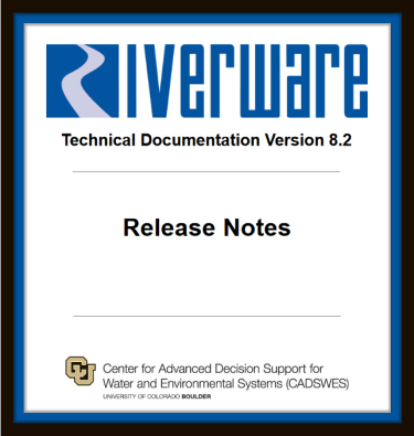 Image of RiverWare release 8.2 notes
