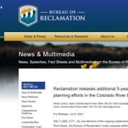 US BOR new and multimedia webpage screenshot