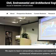 Prof Balaji giving a presentation on research, from CU -CEAE website