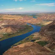 Arial view of a portion of the Colorado River