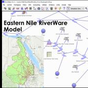 Eastern Nile RiverWare Model on the RiverWare workspace