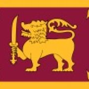 the National flag of Sri Lanka