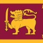the National flag of Sri Lanka