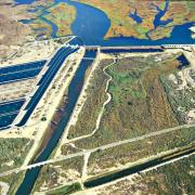 Bureau of Reclamation photo of their Imperial dam and disilting projects