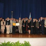 Award ceremony in DC in recognition of work done