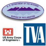 collage of BOR USACE and TVA logos