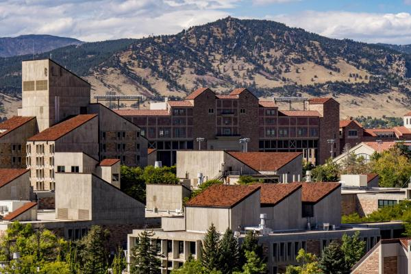 rooftops on the CU Boulder campus