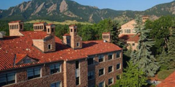 rooftops of the CU Boulder campus