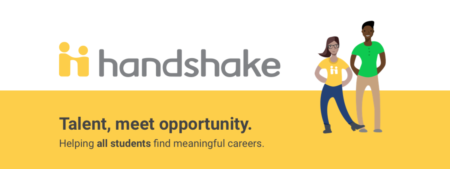 Handshake graphic image that say talent, meet opportunity
