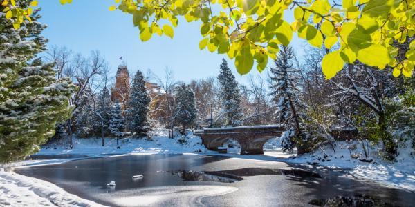 Frozen Lake MacKenna Bldg.