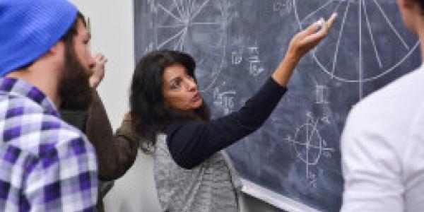 Professor teaching applied math