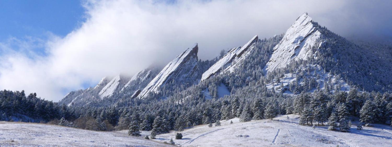 Flat Iron Mountains view