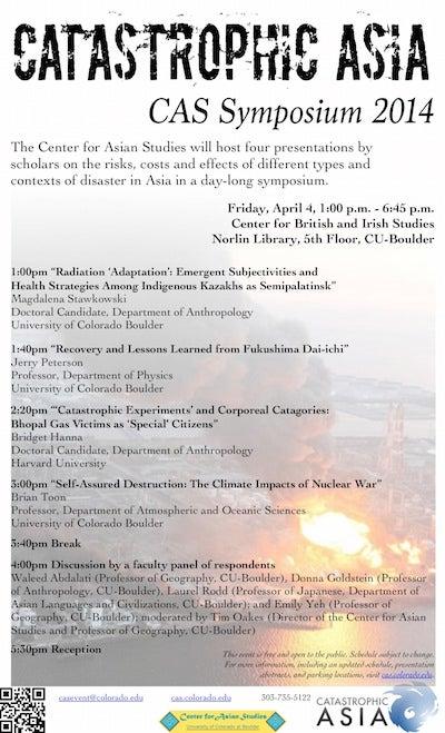 Catastrophic Asia Symposium