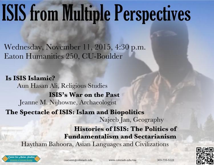 ISIS from Multiple Perspectives November 11 CU Boulder