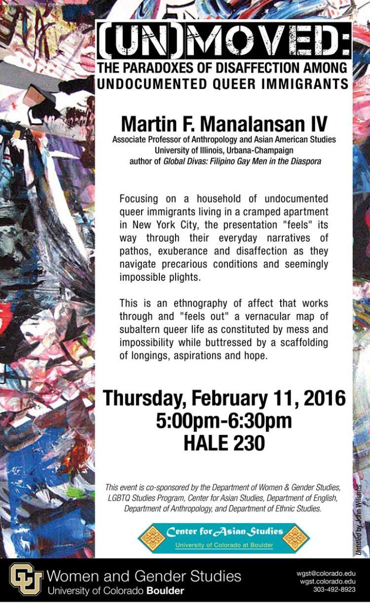 (Un)moved Martin F. Manalansan CU Boulder