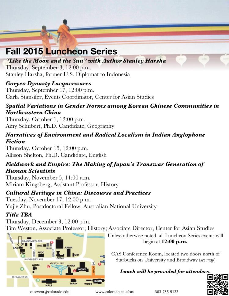 Fall 2015 CAS Luncheon Series